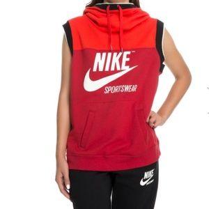 Nike Women's Sportswear Hoodie Sl Archive Rush Red